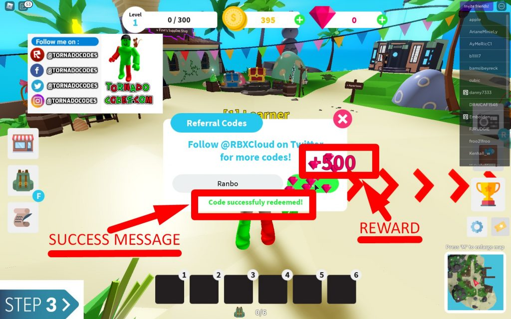 How to Redeem Codes in Roblox Fishing Simulator
